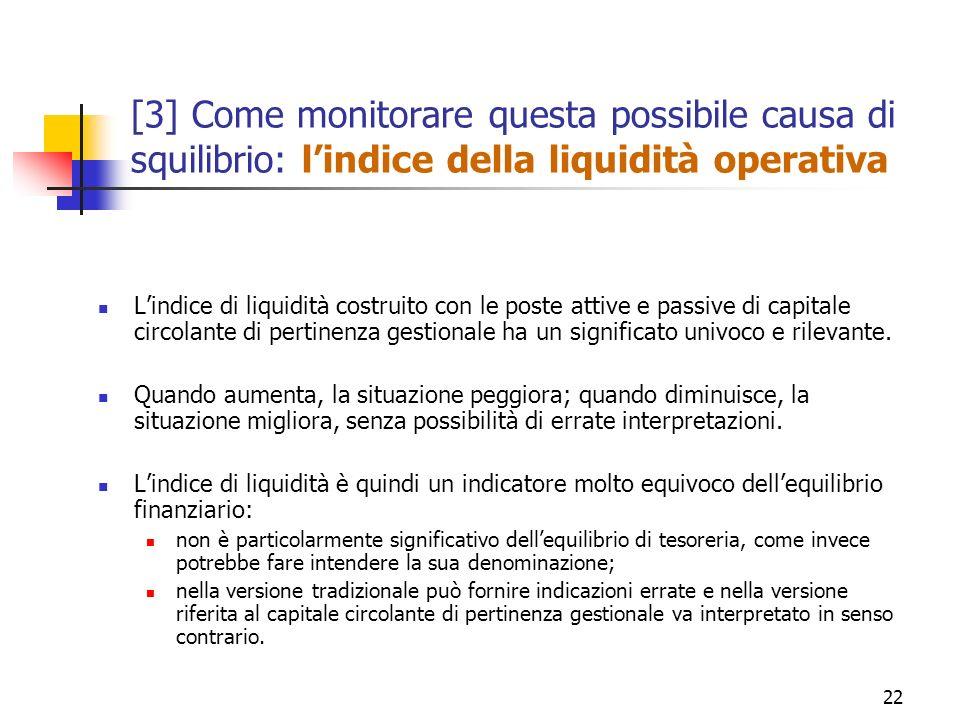 [3] Come monitorare questa possibile causa di squilibrio: l'indice della liquidità operativa